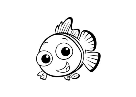pin cartoon fish coloring pages on pinterest