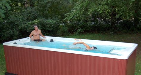 Backyard Exercise Pools Endless Pools 15 Swim Spa Continuous Current Exercise