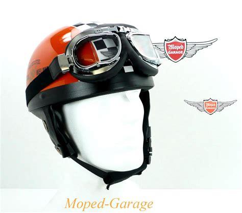 Motorrad Oldtimer Helme by Moped Garage Net Oldtimer Halbschalen Helm Race Orange