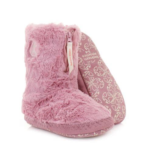 bedroom boots womens girls bedroom athletics marilyn pink faux fur