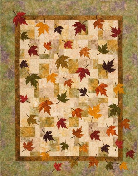 Fall Leaves Quilt Pattern by Plum Tree Quilts Falling Leaves Autumn Leaf Quilts