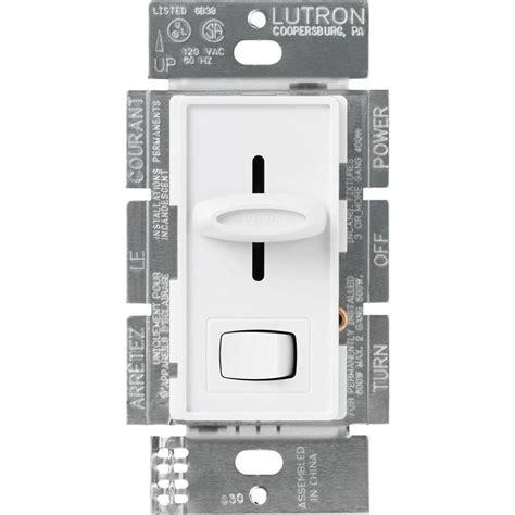 lutron diva  watt single pole preset electronic  voltage dimmer white dvelv ph wh