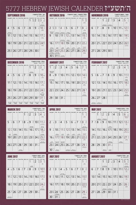 Rosh Hashanah Calendar 25 Best Ideas About Calendar 2016 On