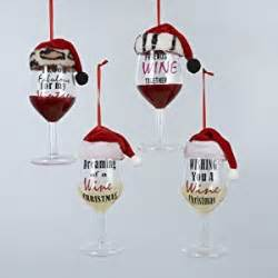 pack of 8 red and white wine glass with sayings christmas