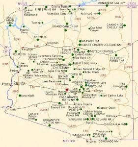 arizona state park map exploring arizona