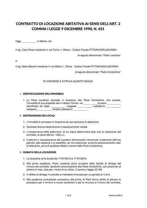 contratti affitto casa contratto di locazione ad uso abitativo lexdo it