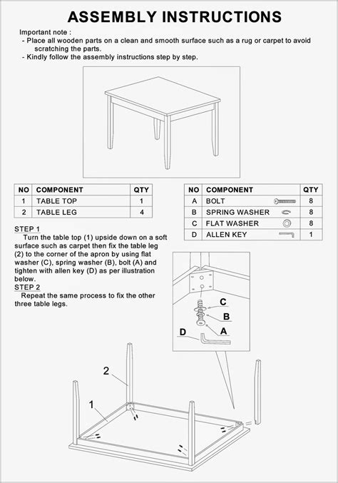homelegance oklahoma 2469 assembly instructions