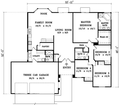 4 bedroom open concept floor plans adobe southwestern style house plan 4 beds 3 00 baths