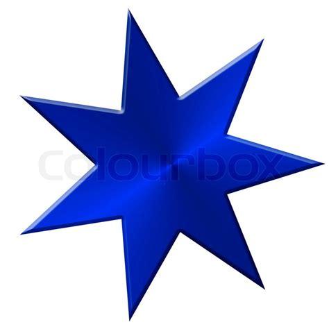 stern fotografie 70 3652000714 stern metall sieben 7 zacken blau stockfoto colourbox