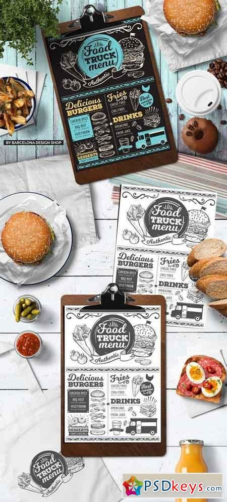 food truck menu template food menus 187 free photoshop vector stock image via torrent zippyshare from psdkeys