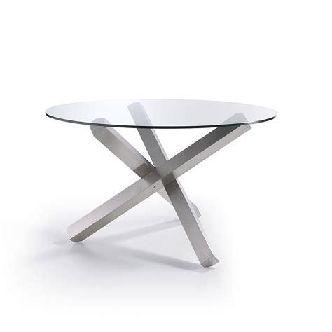 mesa comedor redonda cristal mesa de comedor con tapa de cristal y base en forma de