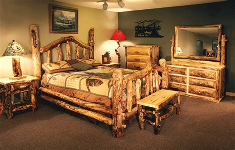 log cabin bedroom furniture log furniture reclaimed wood furniture log cabin rustics