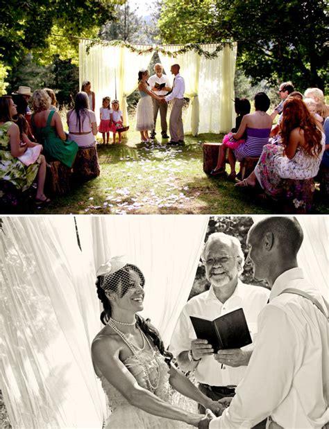 beautiful backyard wedding just married again green wedding shoes weddings