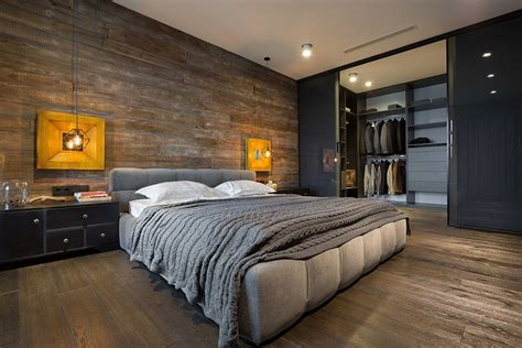 lofted bedroom high end bachelor pad design stunning loft in kiev by