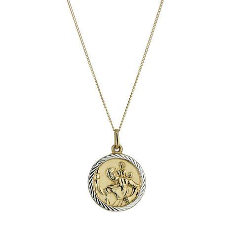 9ct gold st christopher pendant h samuel