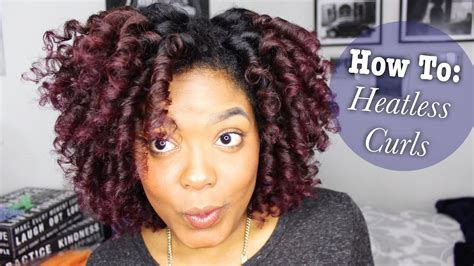 heatless hairstyles for natural hair how to heatless curls on natural hair youtube