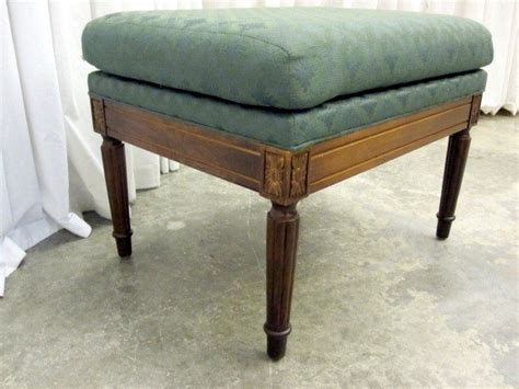 antique ottoman for sale extra nice federal style ottoman footstool in green for