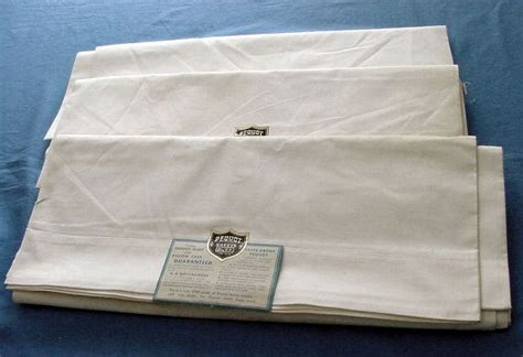 top quality sheets 3 vintage unused top quality pequot bed sheets c 1930