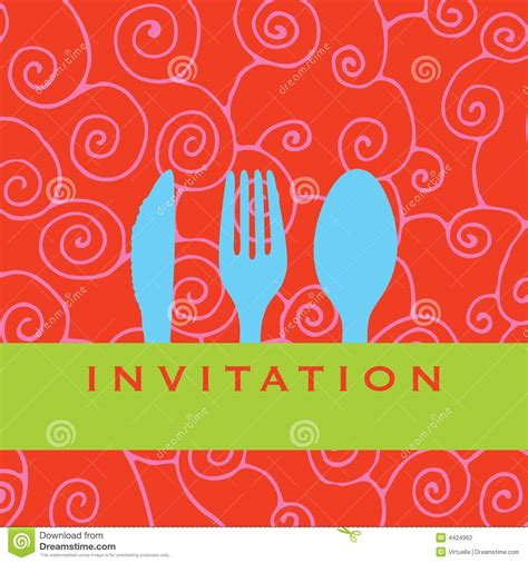 Wedding Lunch Clipart by Dinner Invitation Clipart Clipart Suggest