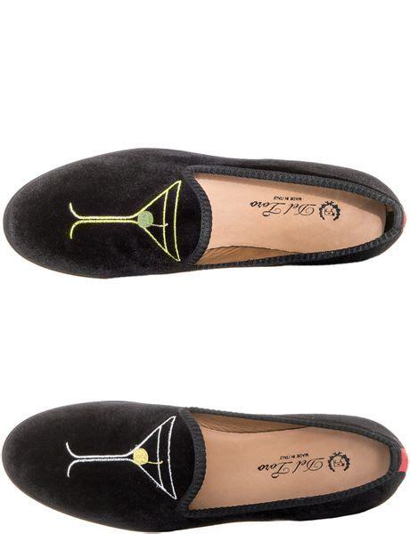 toro black velvet slippers toro martini glass velvet slippers in black for lyst