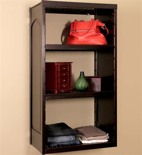 Wall Mounted Closet by Wall Mounted Storage Shelves Woodcrest In Ventilated Wood Closet System