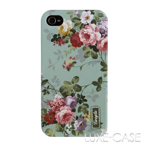 Iphone 4 4s Pastel Flower Lace Phone Cover Casing mint pastel vintage floral flower pretty girly roses iphone 4 4s cover new