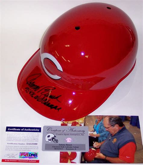 johnny bench hand size johnny bench autographed hand signed cincinnati reds full