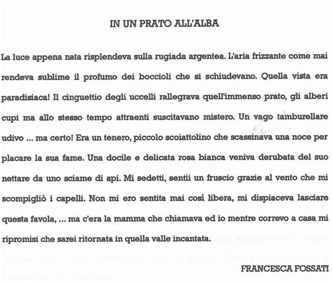 testo narrativo descrittivo il testo descrittivo breve quot in un prato all alba quot