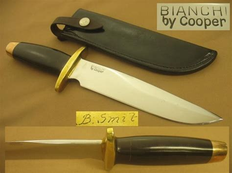 Handmade Fighting Knives - vintage 1968 bianchi cooper fighting knife handmade