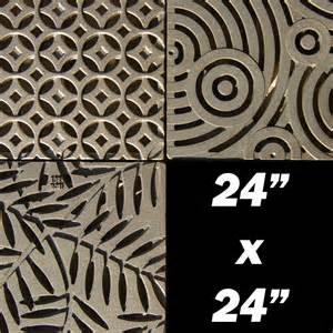 decorative 24 x 24 cast iron grate drainagekits