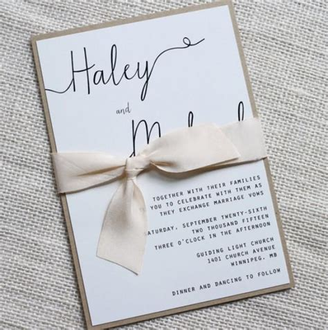 Simple Handmade Wedding Invitations - modern wedding invitation simple wedding invitation