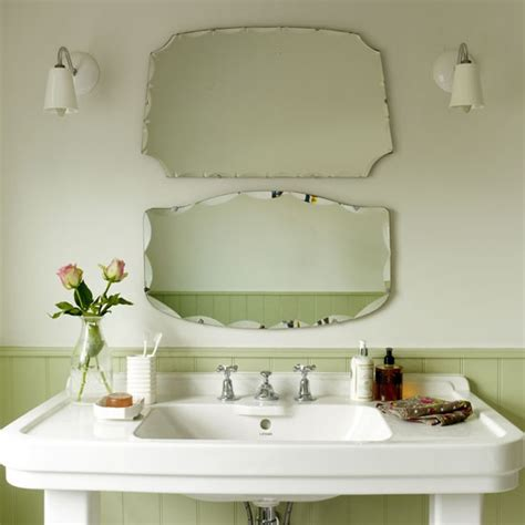 vintagestyle mirrors small bathrooms ideas