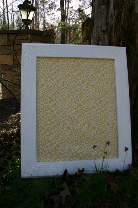 white vintage style frame with decorative cork board 22 x26