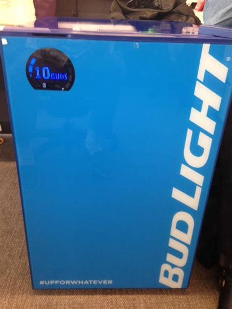 cold bud light here here s bud light s 299 smart fridge agencyspy