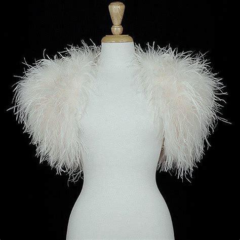 opulent ostrich feather wrap shrug jacket bolero cape new