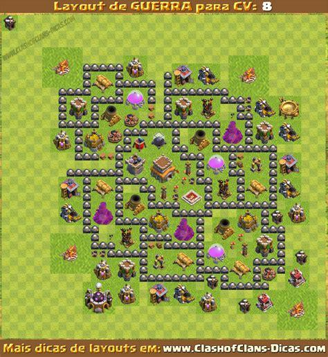layout de cv 8 para guerra layouts para cv8 em guerra clash of clans dicas