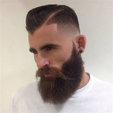 Kaos Beard 8 High Quality zero low fade shape up cut in high side part tight