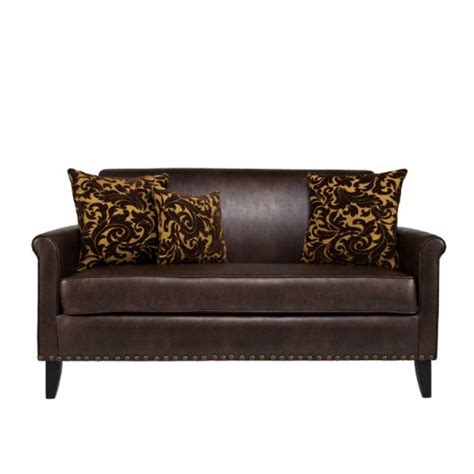 leather and velvet sofa angelo home harlow sofa renu leather coffee with java