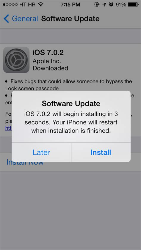 iphone update ios 7 apple releases ios 7 0 2 fixing lock screen security