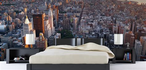 skyline bedroom wallpaper wallpaper projects inspirations paint