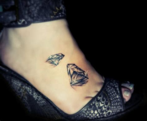 Tattoo Diamond Foot | diamond tattoo design on foot busbones
