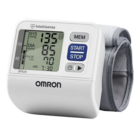 Omron Auto Blood Pressure Monitor by Maxiaids Omron Auto Inflating Wrist Blood Pressure Monitor