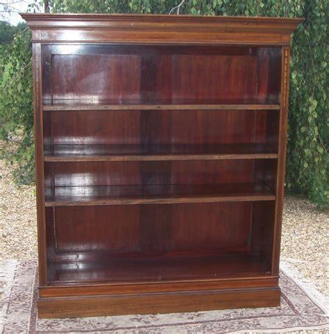 Edwardian Mahogany Open Bookcase 356112 Mahogany Bookshelves