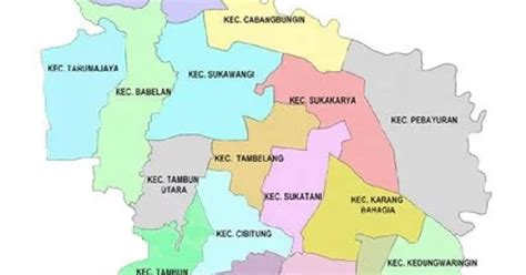 peta kabupaten bekasi hd lengkap jawa barat peta hd