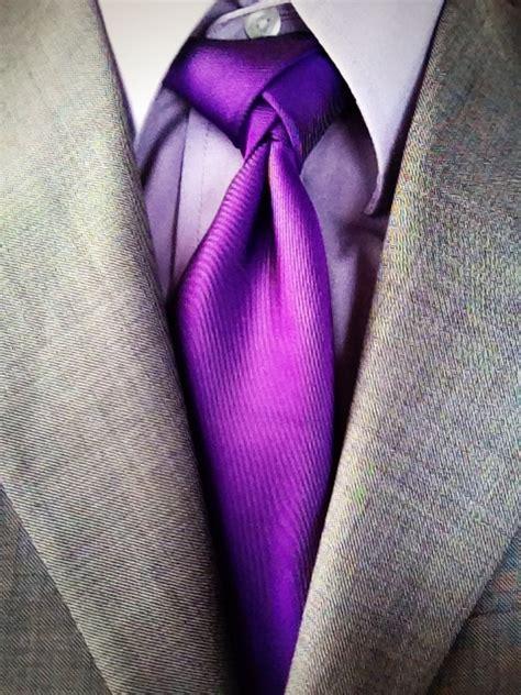 great color combo grey suit light purple dress shirt