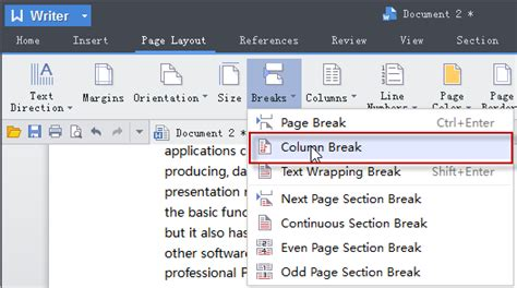 insert section break word 2007 how to remove column break in excel 2007 troubleshoot