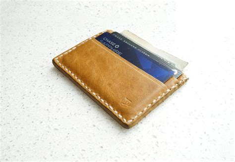 how to make a card wallet custom s leather wallet card holder by