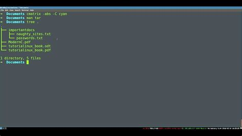 tutorial linux tar archiving and compression on linux basic tar commands