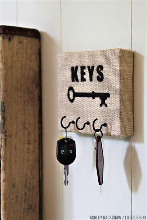 Chalkboard Paint Kitchen Ideas How To Make A Burlap Canvas Key Holder
