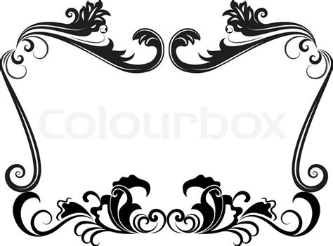 Gothic Revival Home Plans by Black And White Vintage Floral Frame Template Stock